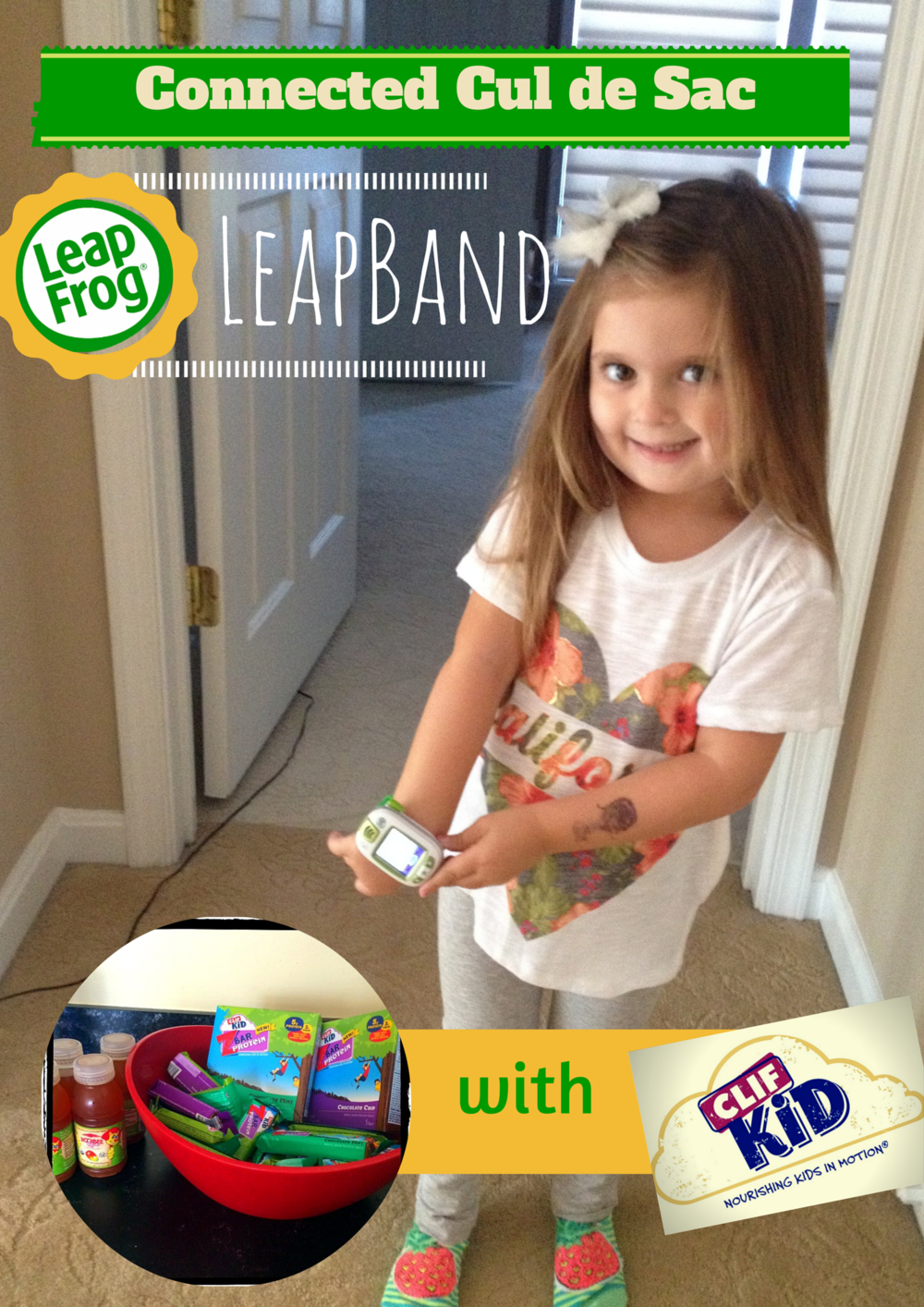This is my adorable neighbor Sage!  She LOVED the LeapBand so much, she got to keep it!  You rock Sage!