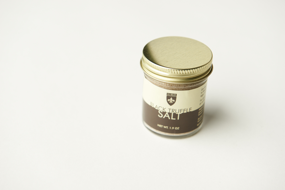 For taste, I wanted to bring you one of myfavorite seasonings: BLACK TRUFFLE SALT!I especially love to sprinkle it on my eggs(scrambled hard and very well done, please!).You can use it on popcorn, meat, pasta, seafoodand vegetables—basically anytime you want yourtaste buds to explode with goodness.