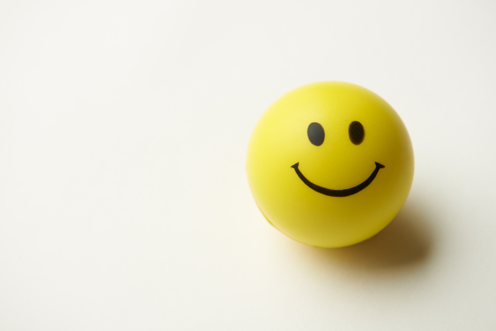 While stress isn't a happy thing, this SMILEYFACE STRESS BALL is sure to bring your moodup, while bringing your stress down. I find thislittle gem very handy—squeeze it in your hand ashard as you can, and it will still have a smile on itsface!