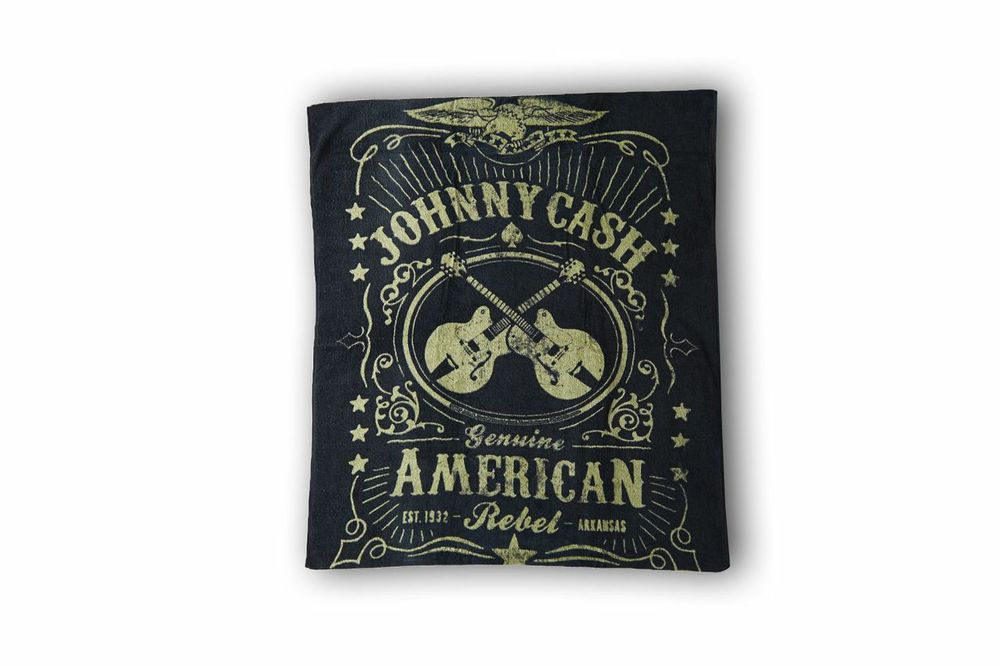 "To go with the summer theme, a BEACH TOWEL is a must! Especially a rock 'n' roll printed one. ;-)  ""Sometimes I am two people. Johnny is the nice one. Cash causes all the trouble. They fight.""  –Johnny Cash"