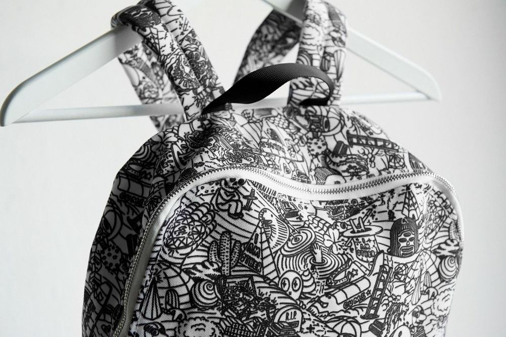 Your package contains a ONE OF A KIND BACKPACK DESIGNED BY THE ARTIST FREEGUMS exclusively for my Quarterly subscribers. When creating this piece, Freegums channeled my Quarterly theme to create a pattern that represents curiosity, experience, learning and adventure. Besides its cool design, it's a gentle reminder to encourage you to explore.