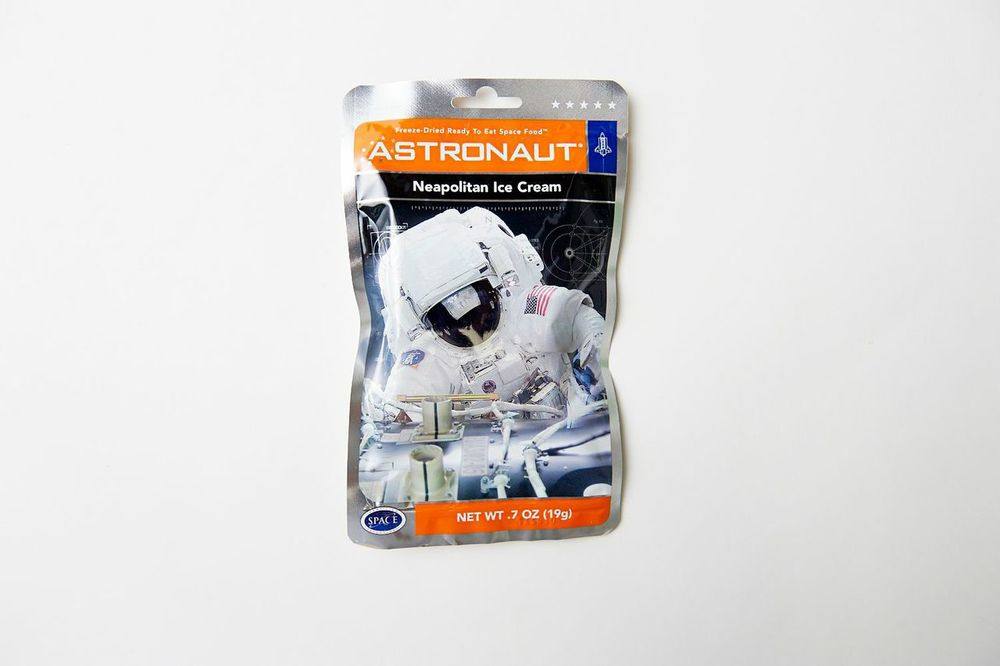 ASTRONAUT ICE CREAM At summer camp growing up, Kyle would always receive care packages from his grandmother with candy (which was not allowed at camp) meticulously hidden inside different objects. There were treats stuffed inside tennis balls, and once sent him Twizzlers taped to the underside of a frisbee - a real life flying saucer. For your long journey to the cosmos, we have included something sweet to reference those summer nights at camp when, equipped with the simple joys of candy, Kyle and his friends would sneak out and lay under the stars enjoying and discussing the vastness of the universe.