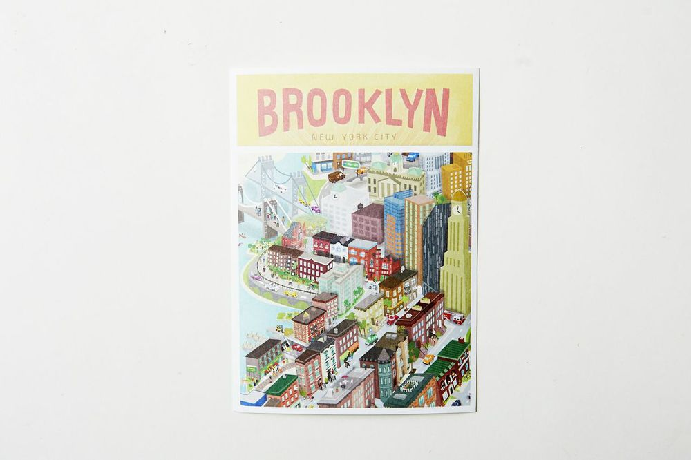 Wash off the crumbs first, then take notes on what a great summer you're having and send 'em to a loved one with a SNAZZY BROOKLYN CARD.