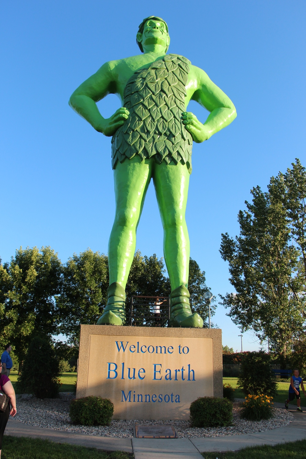 Ah, the REAL Green Giant! Blue Earth, Minnesota
