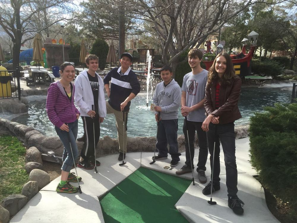 First official lab activity. Minigolf! March, 2015