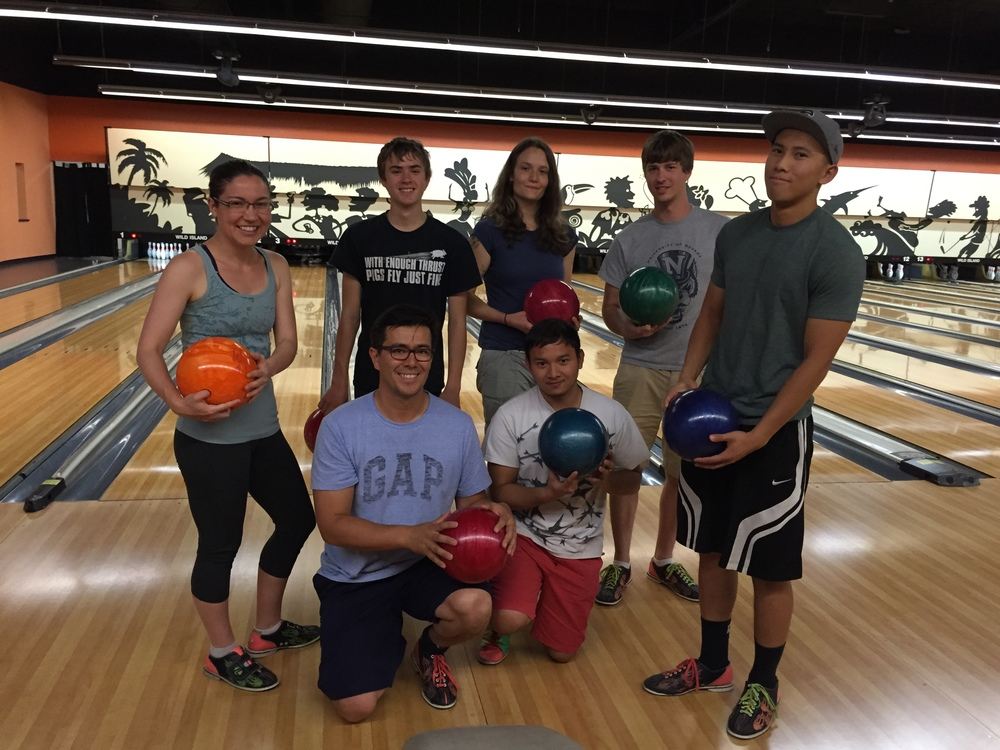 Bowling at Coconut Bowl!  June, 2015.