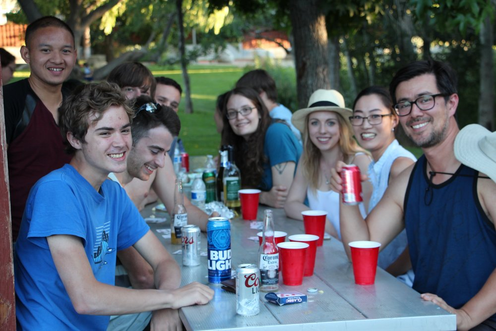 Zhang and Miura lab picnic (Disclamer: that beer is not Matt's).