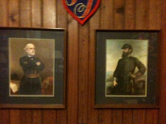 Stately photos of Civil War heroes Robert E Lee and Stonewall Jackson hang in the home of one of our partners.