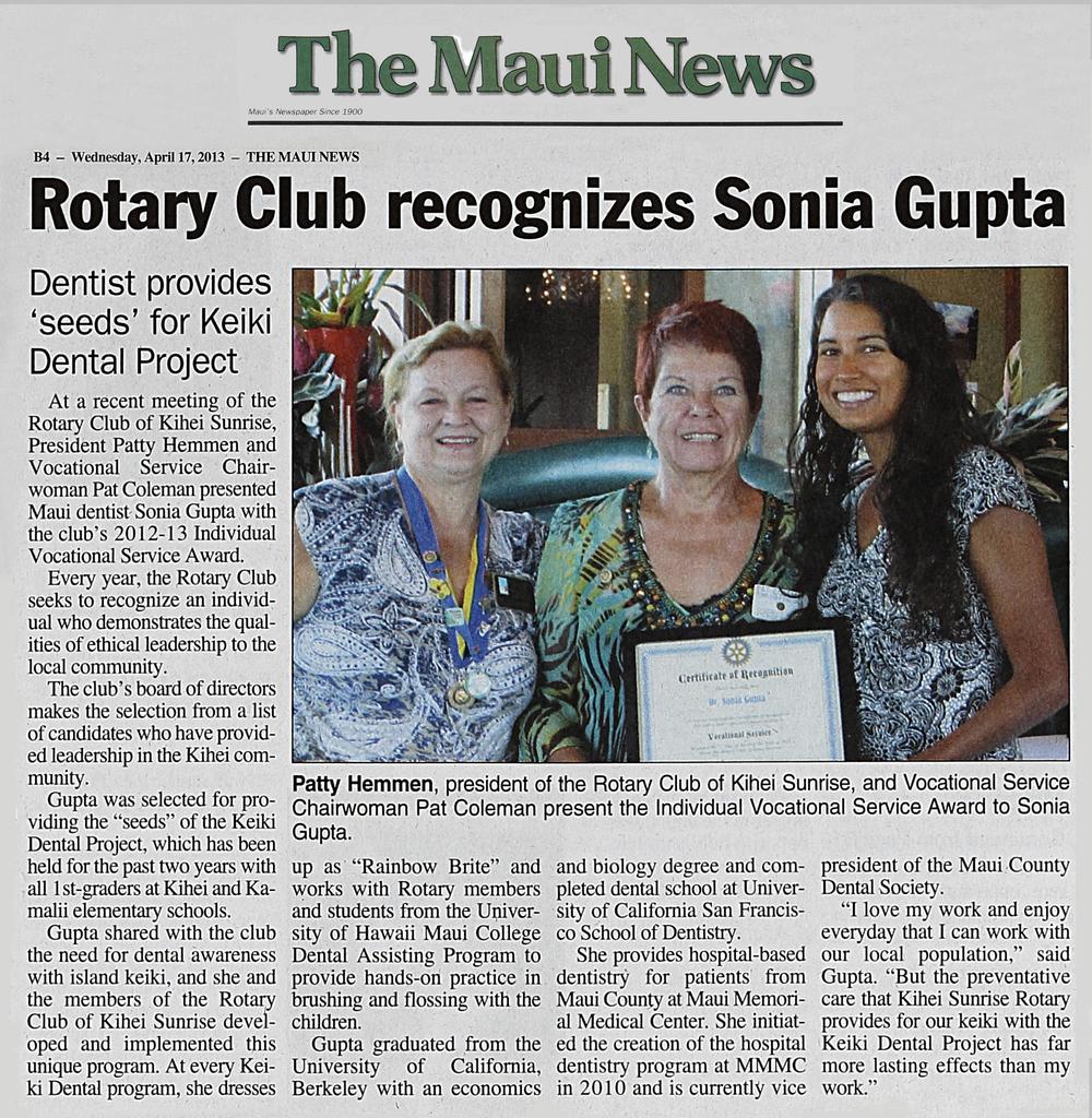 3 Rotary Award Maui News.jpg