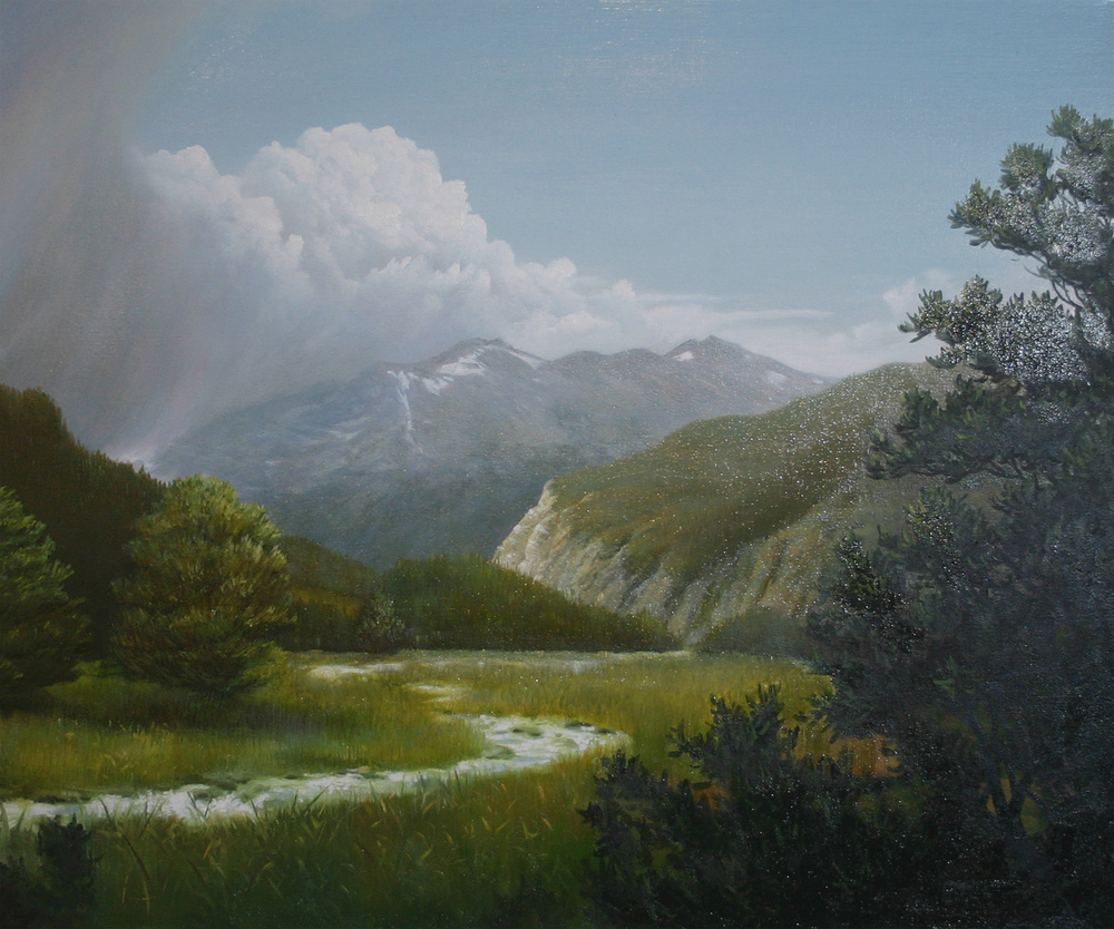 """Pikes Peak"" 30x24 oil on canvas"