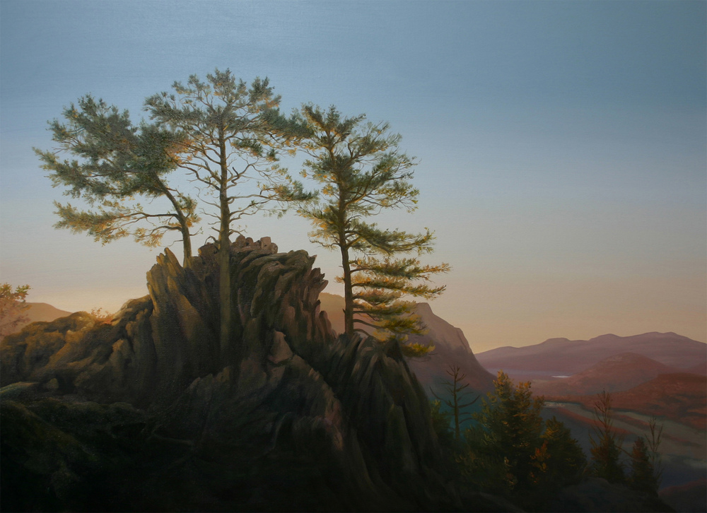 """The Three Pines"" 36x48 oil on canvas"