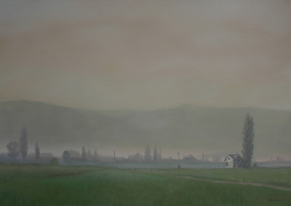 """Snohomish Valley Morning"" 24x30 oil"