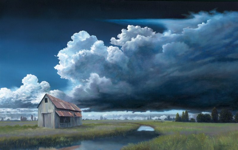 """Heavy Cloud, No Rain"" 30x48 oil"