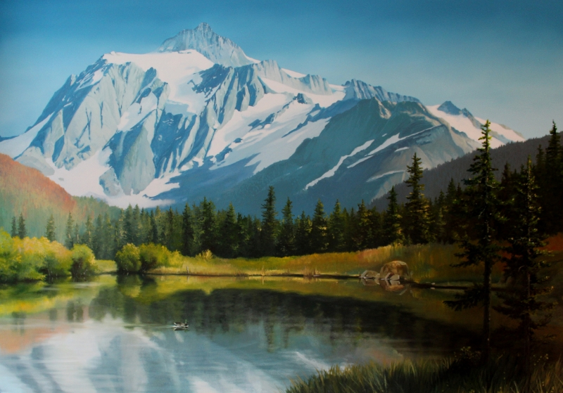 """Mt. Shuksan"" 4'x6' commission"