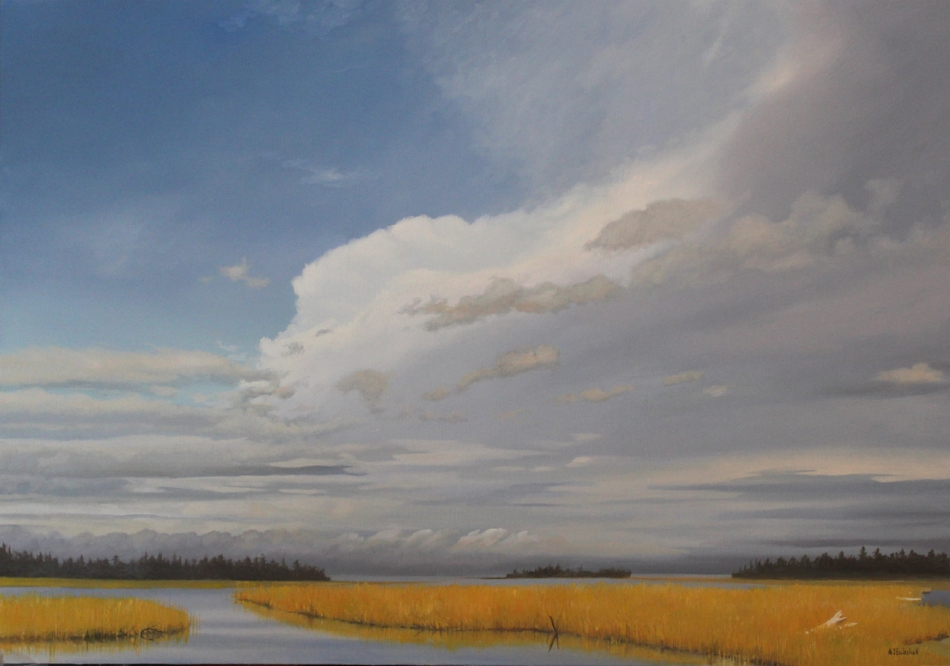 """Grays Harbor Gold"" 24x36 oil"