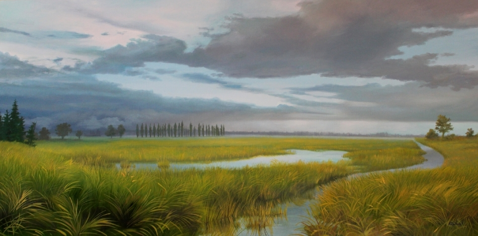 """Windward"" 24x48 oil"