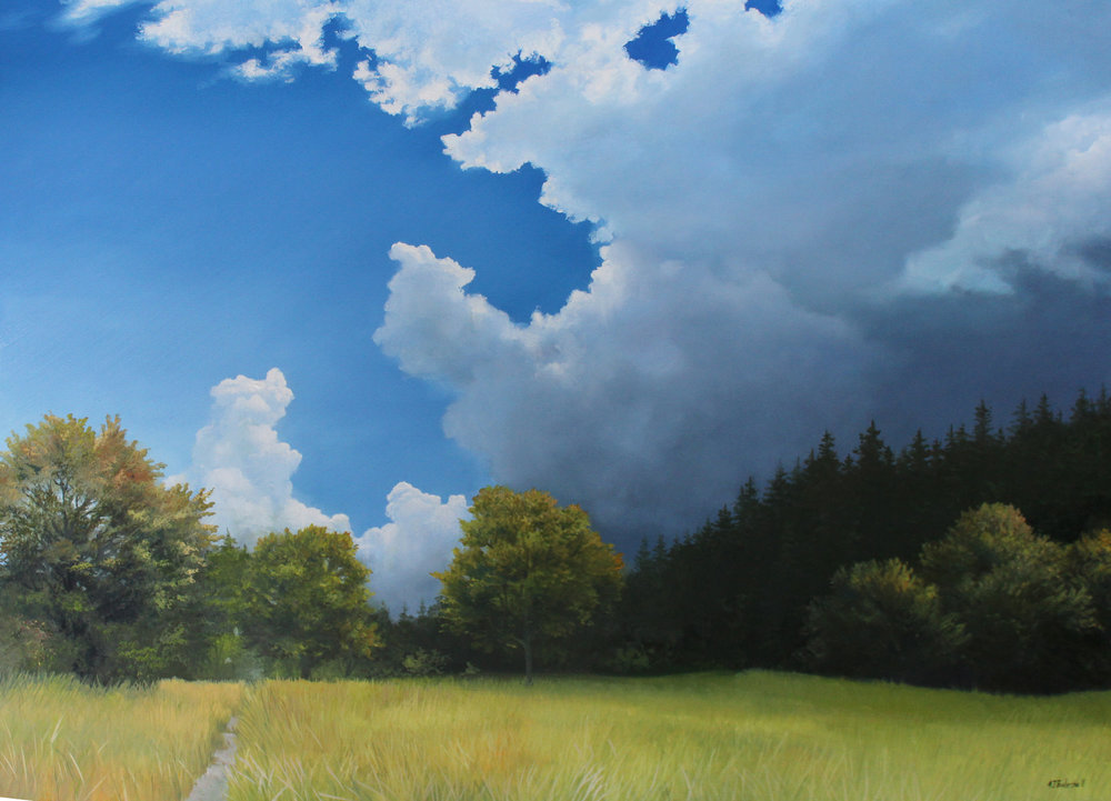 """Late Summer Sky"" 30x40 oil"