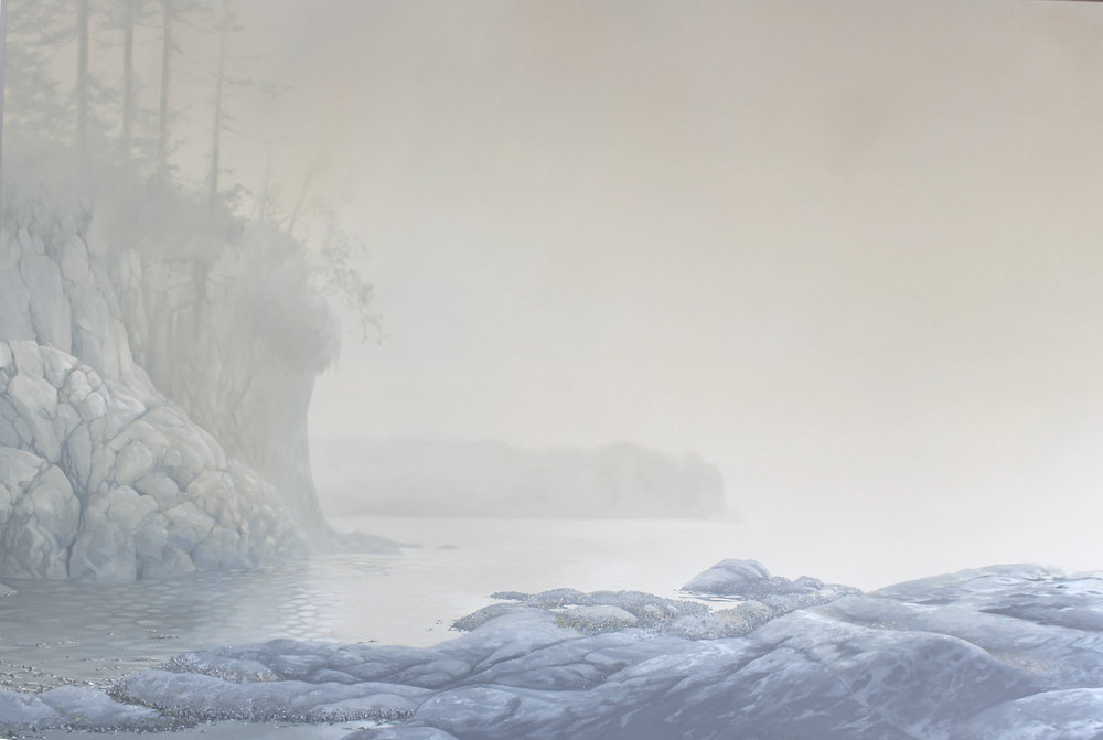 """Salt Creek Mist"" 48x72 oil"