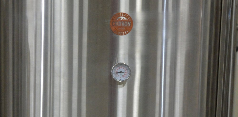 "3"" Dial Thermometer on Distillery Fermenter"