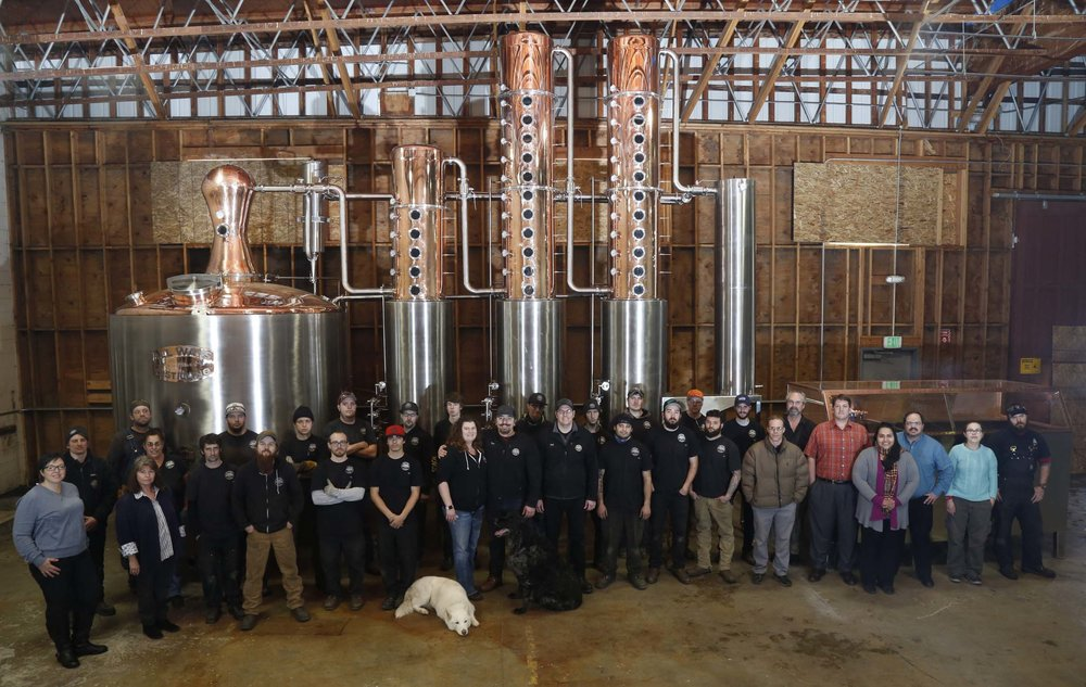 The Corson Distilling Systems Family with a 2300 Gallon Still