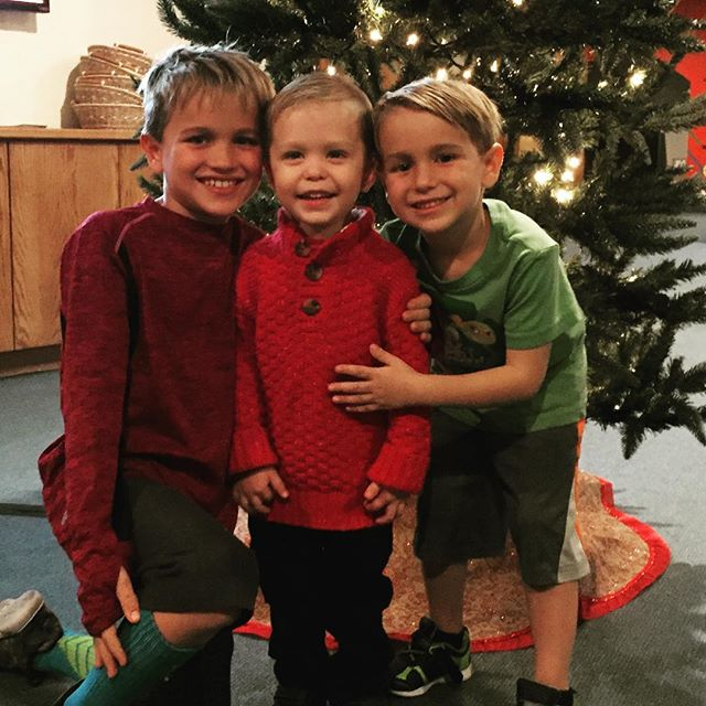Cousins ❤️☺️ these boys made Johnny's day! Christmas preschool performance 2016! Mommy and daddy both cried 😭 how do they grow up so fast?!!!