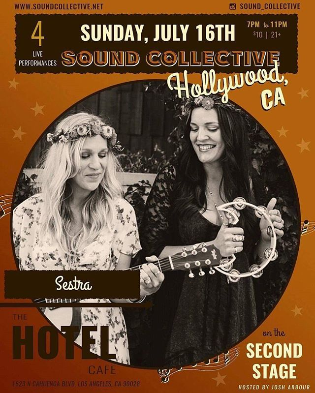 Hotel Café with my sister? Still can't believe it. Tonight guys! We're on at 7p. #bucketlist #show @sound_collective