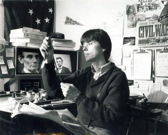 Filmmaker Ken Burns editing  The Civil War   (Photo: Cori Wells Braun)