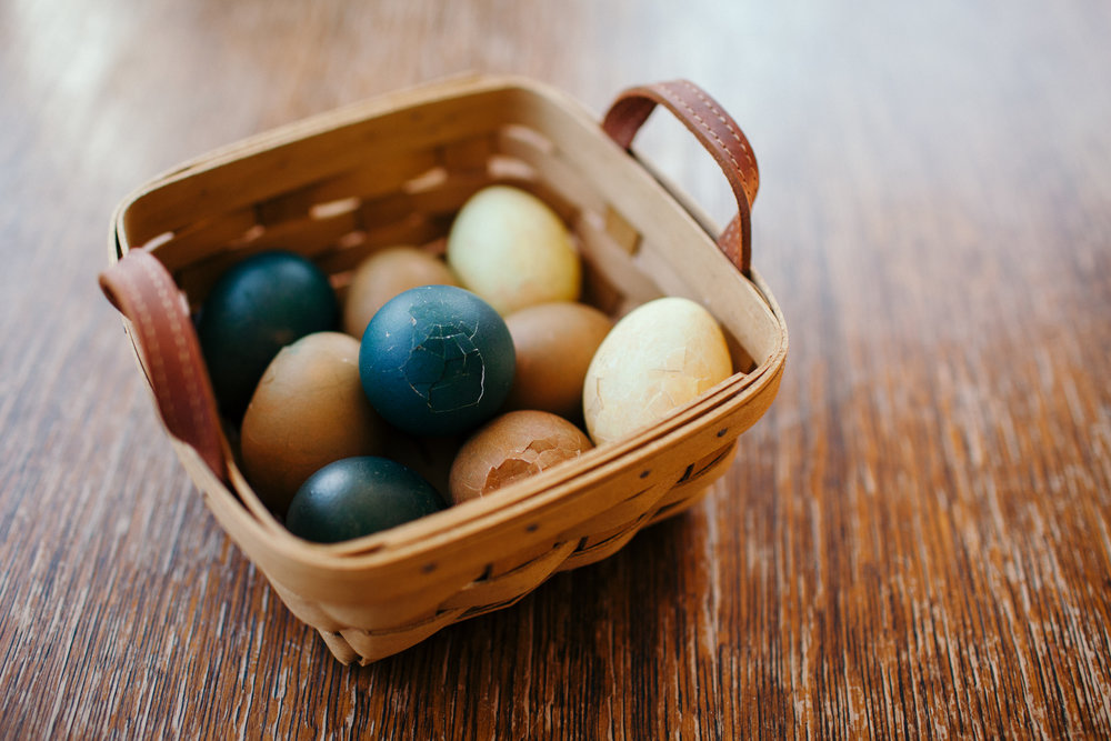 Natural Dyed Easter Eggs - We Wild Beasts