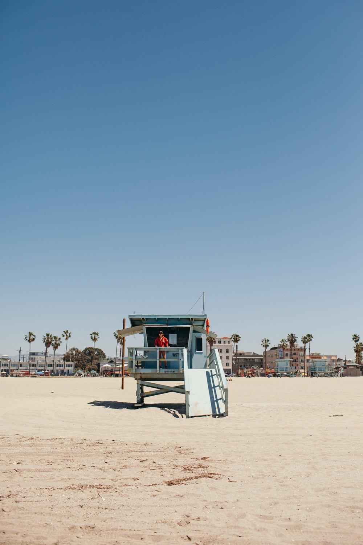 Venice Beach California Lifeguard