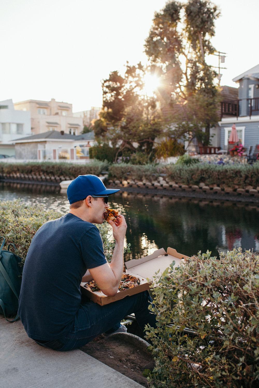 Venice Beach Canals at Sunset Los Angeles California / Gjelina Take Away