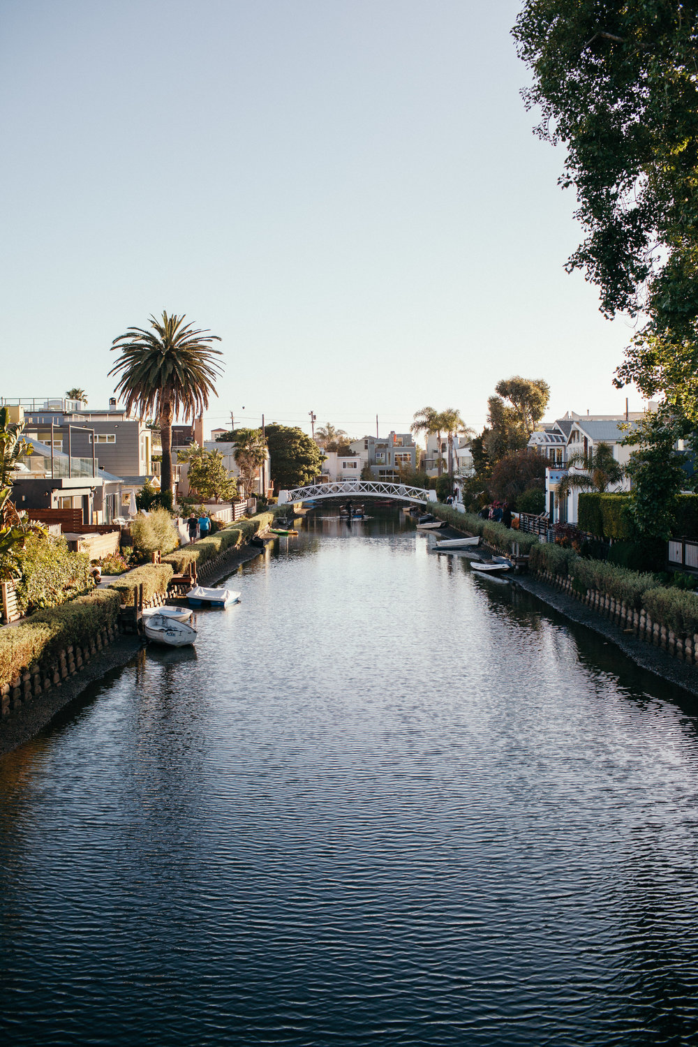 Venice Beach Canals at Sunset Los Angeles California