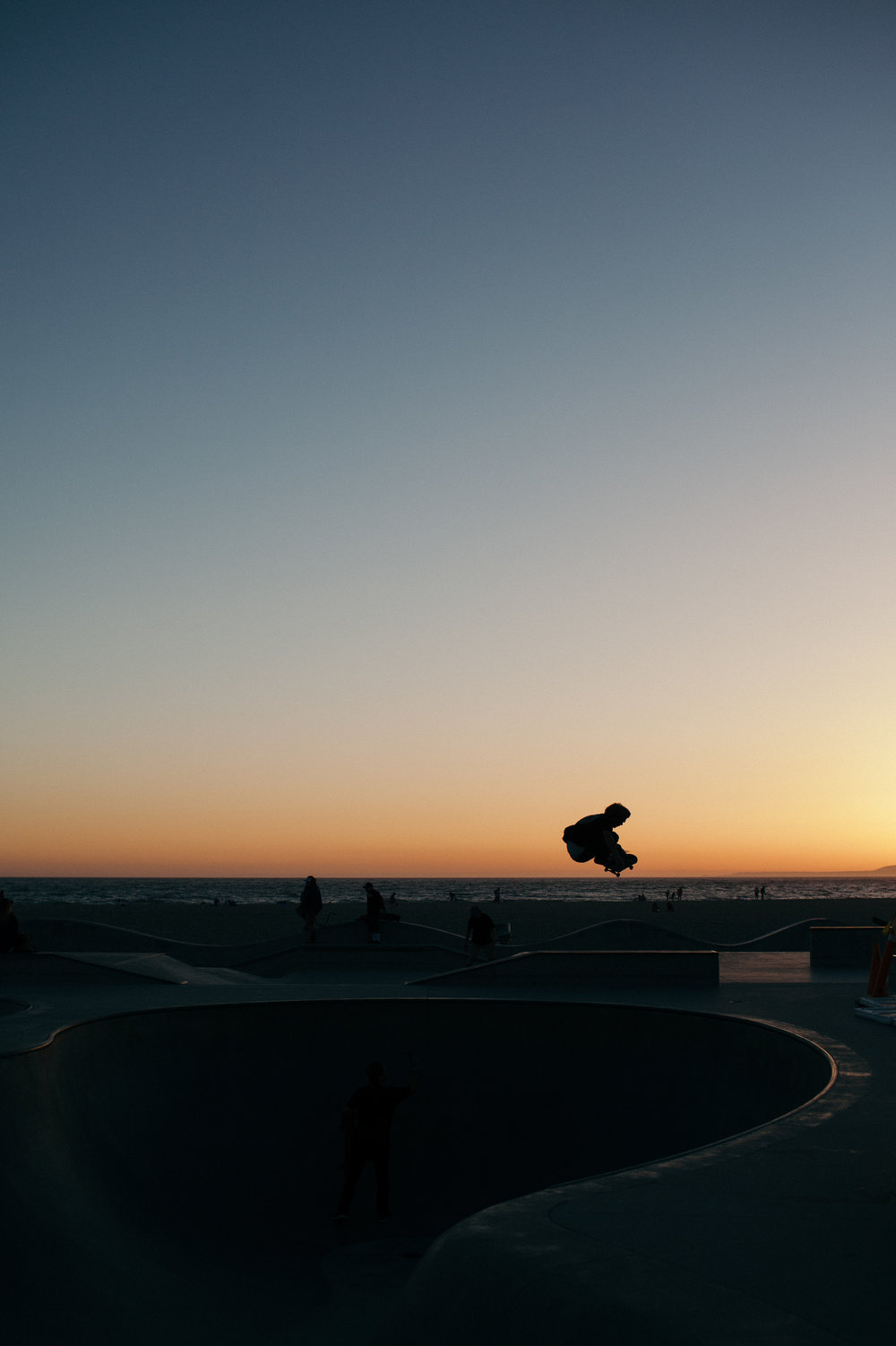 venice skatepark sunset venice beach california