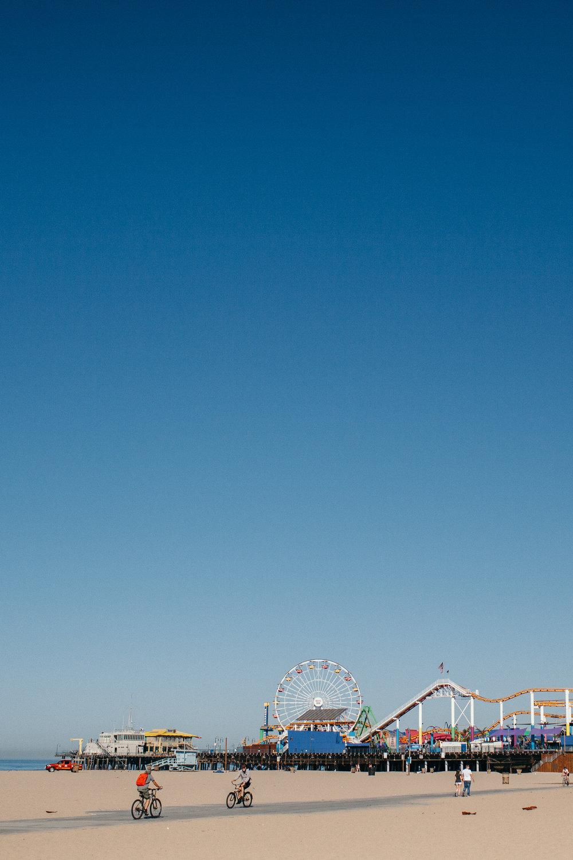 santa monica beach pier palisades park