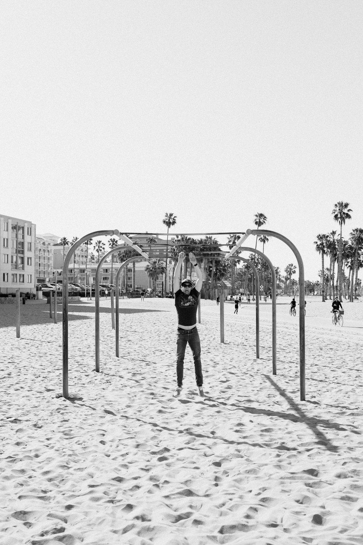 Santa Monica Muscle Beach Monkey Bars