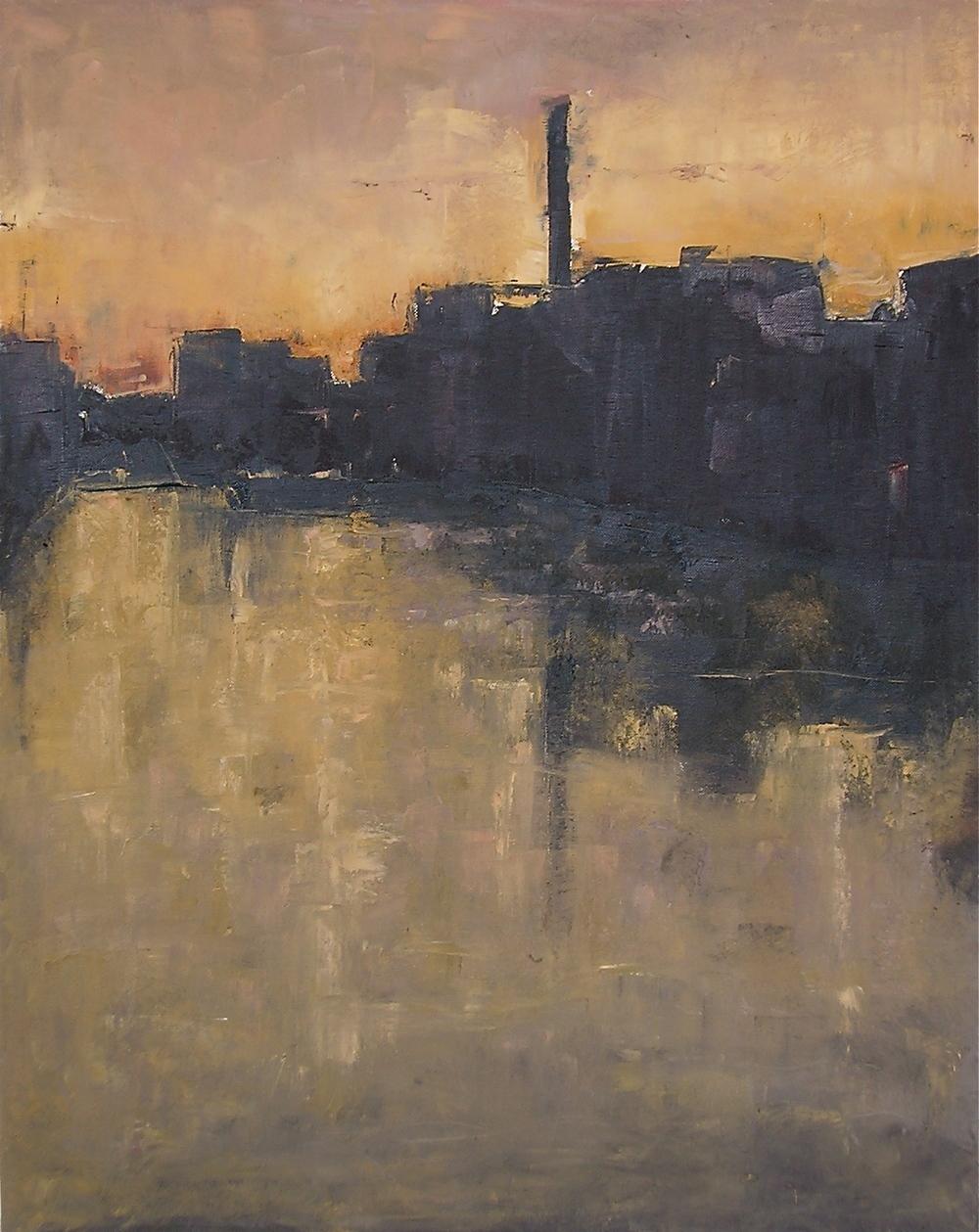 12. Canal I Oil on Canvas 30x24 2009 Available.JPG