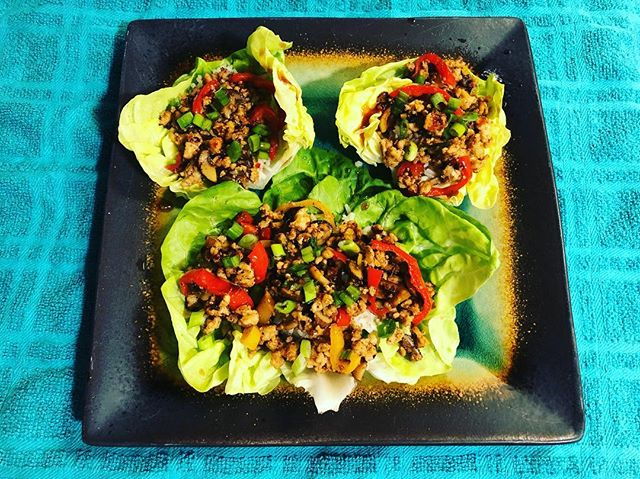 These Thai Lettuce Wraps were amazing. @blueapron @chrissyteigen #yum #yummy #food #foodie #foodporn