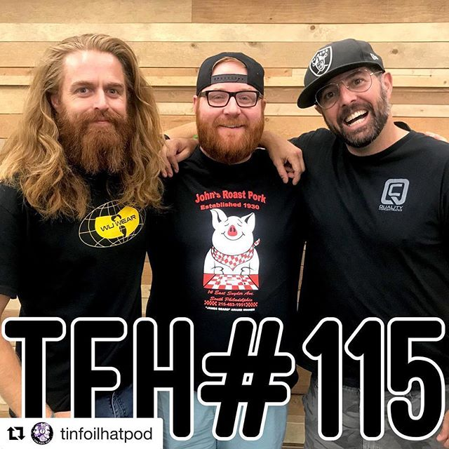 "Such an honor to spend the day with these dudes ""spittin' truth here dawg!"" - we go balls deep on this one, so don't miss it!  #Repost @tinfoilhatpod with @get_repost ・・・ Tin Foil Hat with @joshdenny host of the podcast ""The Implications of Josh Denny"" .  We discuss censorship and the power behind controlling the message. #tinfoilhatpod  #censorship  #LoJD @allthingscomedy  @samtripoli  @joshdenny"