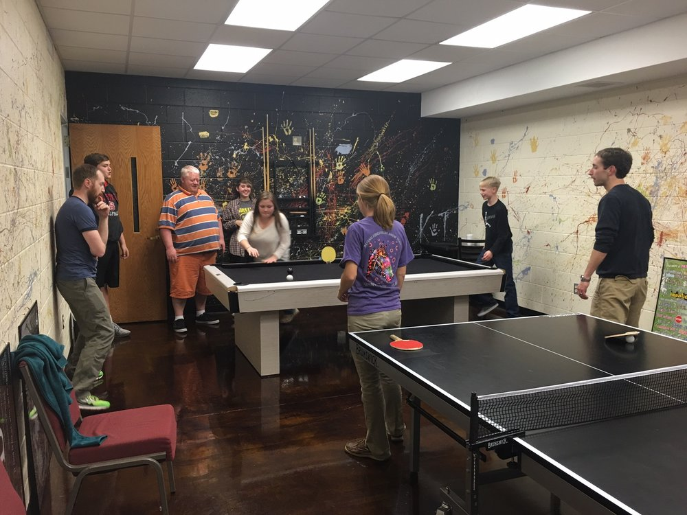 The Game Room in the Youth Room.
