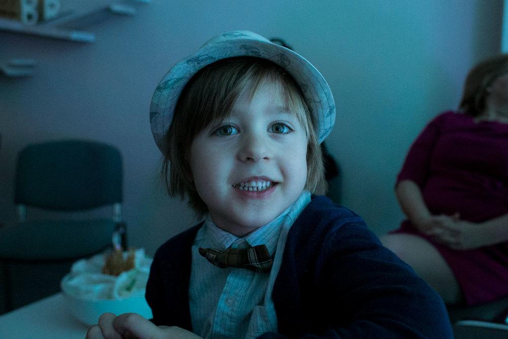 motywem sylwestrowym tego roku były okrycia głowy, a więc jest Vincent i jego kapelusz