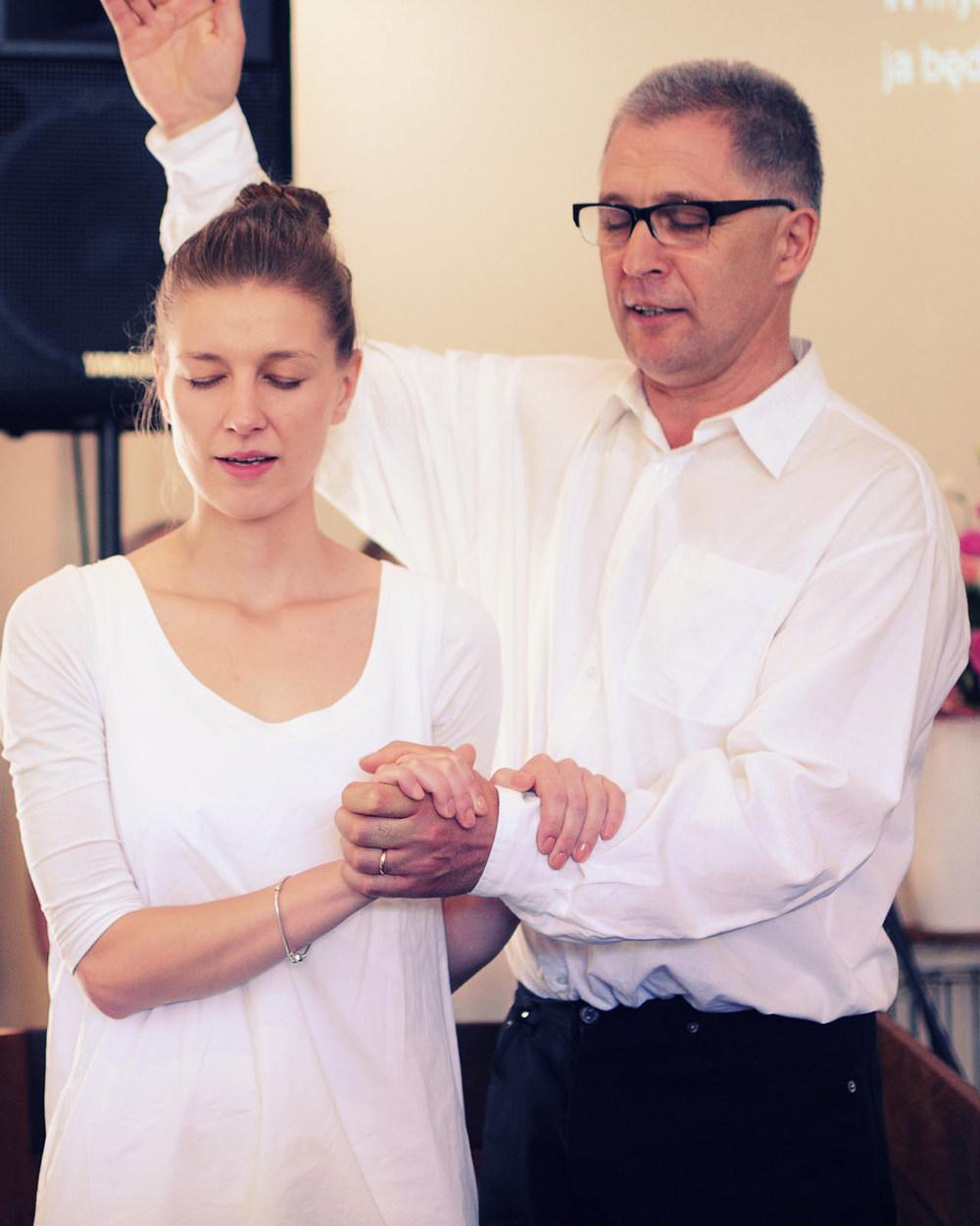 najważniejszy punkt nabożeństwa - chrzest w imię Ojca i Syna i Ducha Świętego
