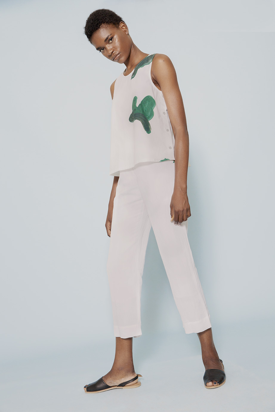 wray SS17 judith top printed print green dress isle pant white linen.jpg