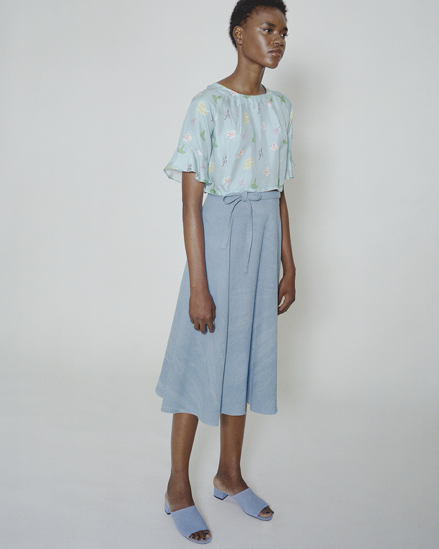 wray SS17 memory top yosemite print wrap skirt blue natural dye indigo.jpg