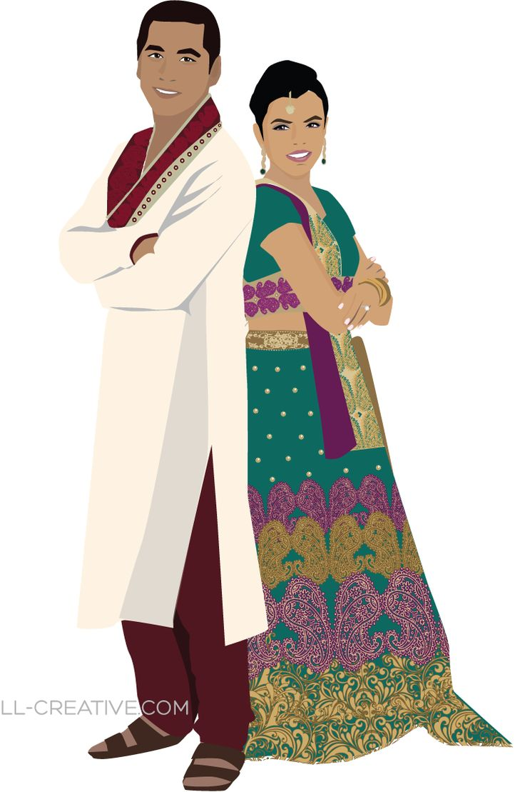 Indian Wedding Illustration - from LL-Creative.com