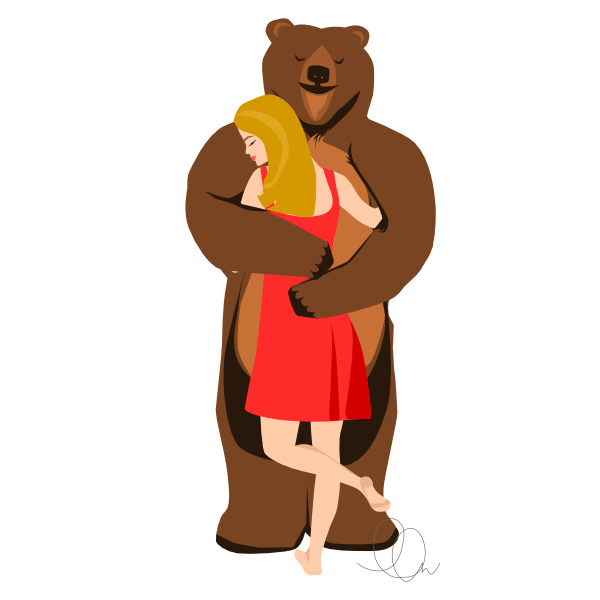 Bear Hugs Illustration from LL-Creative.com