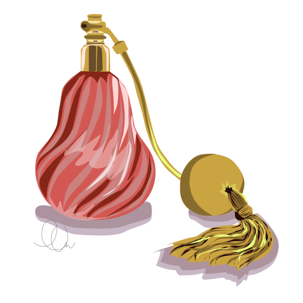 Vintage Perfume Illustration from LL-Creative.com