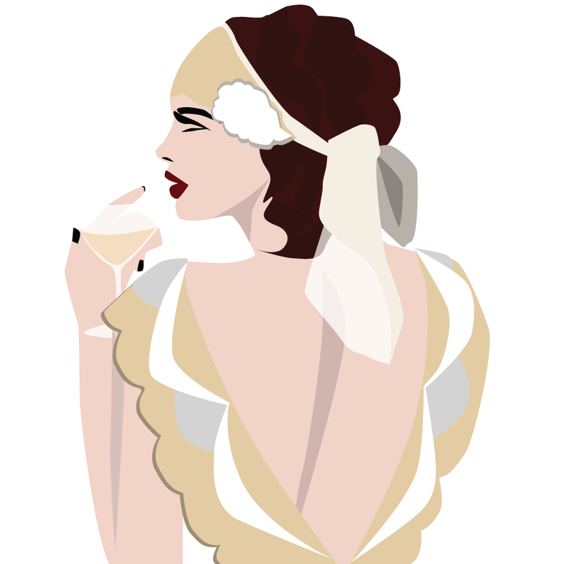 Roaring Twenties Flapper Girl Illustration - from LL-Creative.com
