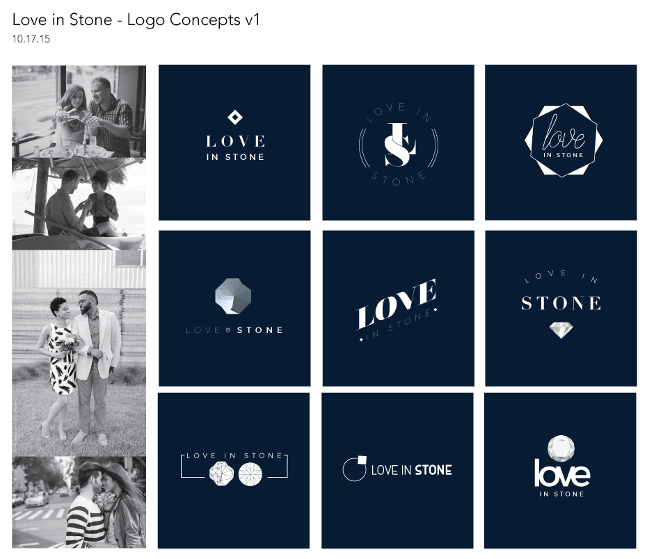Logo Concepts: Love in Stone Jewelry Design
