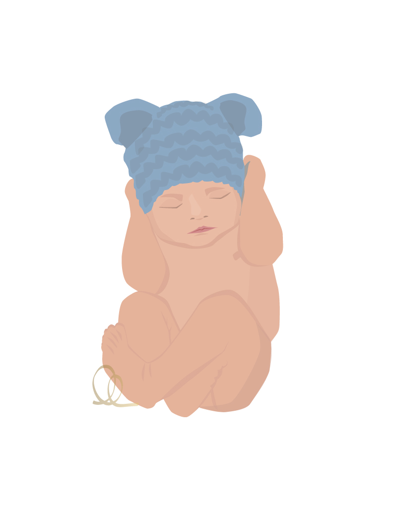 Baby in a Bear Hat