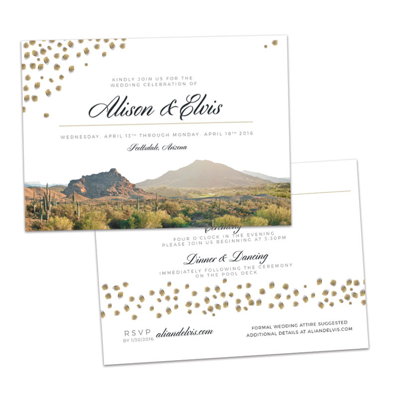Desert Wedding Invitation Suite