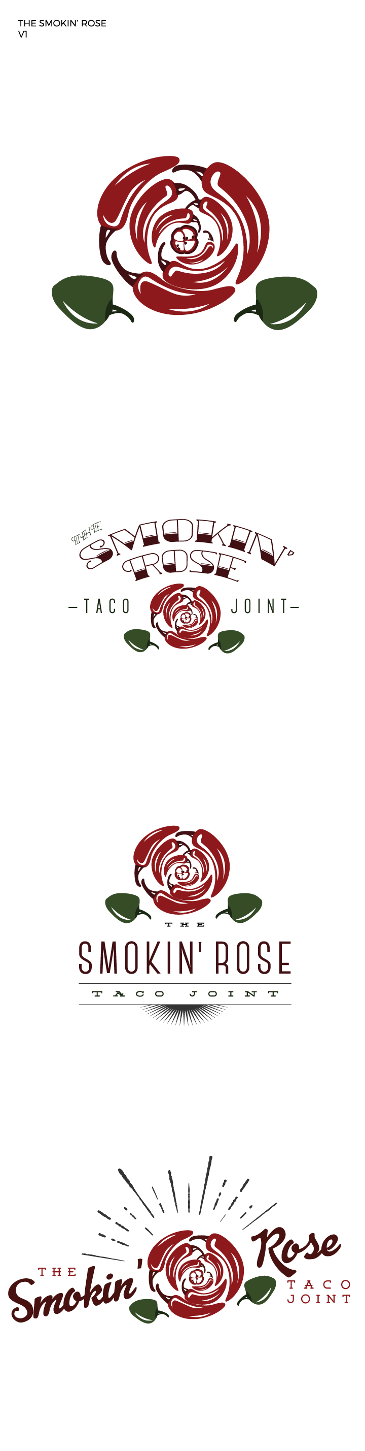 Logo Concepts: The Smokin' Rose Taco Truck